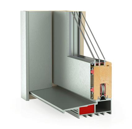 Hebe-Schiebetür System Holz/Alu