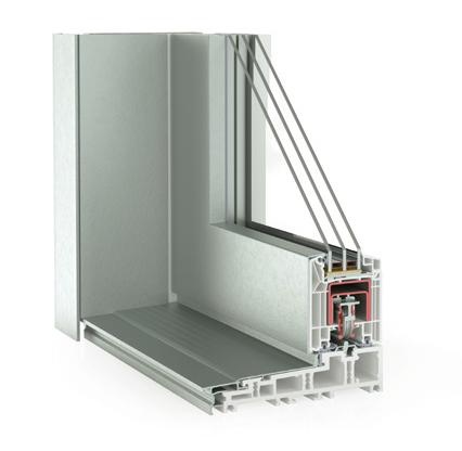 Hebe-Schiebetür System Kunststoff/Alu Synego