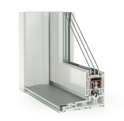 Hebe-Schiebetür System Kunststoff Synego