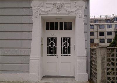 Fenster Hauseingangstür Hasslinger Wien Theodor Körnergasse