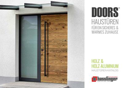 Haustüren Katalog Hasslinger DOORS 2020 Titelseite